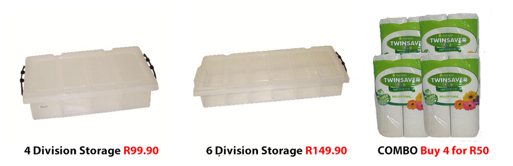 Storage divisions and kitchen towels on special at West Pack Lifestyle