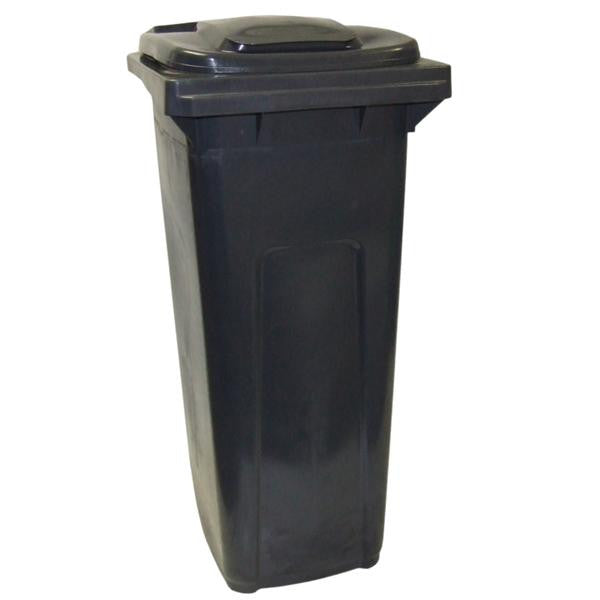 DUSTBIN ON WHEEL BLK 140lt