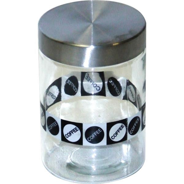 SQ CANNISTER SUGAR & BLK/WHT LID