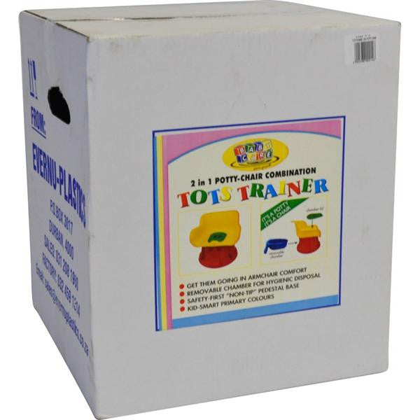 TOTS TRAINER POTTY CHAIR 2 IN 1 ASST