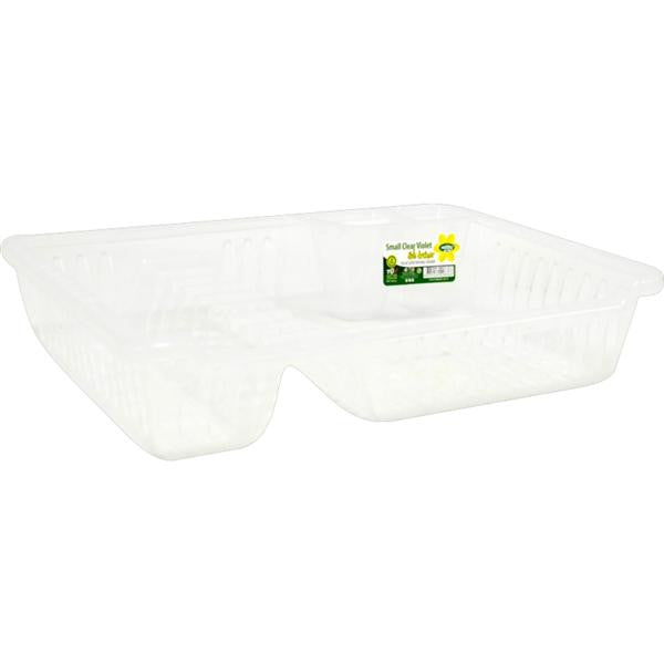 SML CL VOILET DISH DRAINER & TRAY