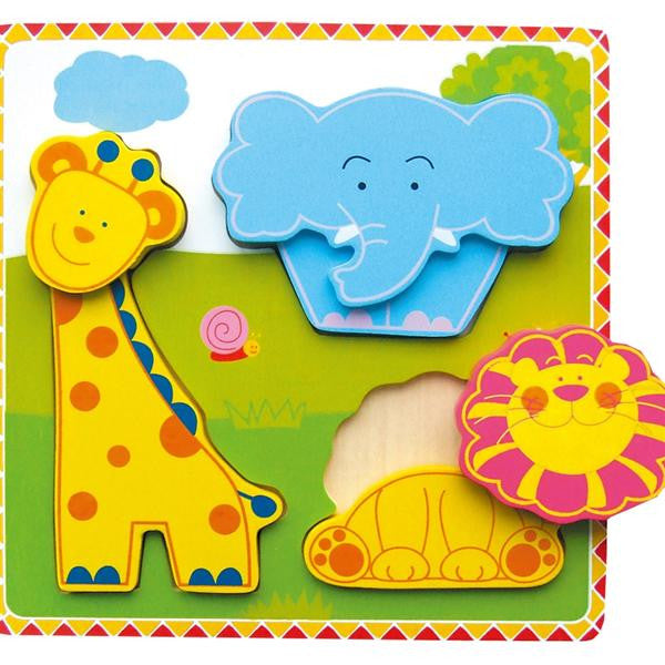 CHUNKY PUZZLE WILD ANIMALS