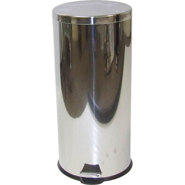 30lt S/STEEL DUSTBIN