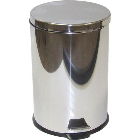 12lt S/STEEL DUSTBIN