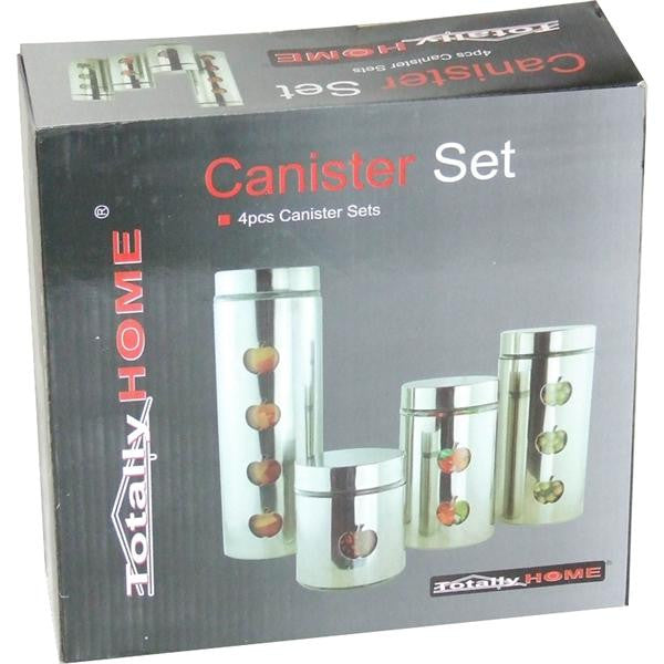 4pc S/STEEL CANISTERS
