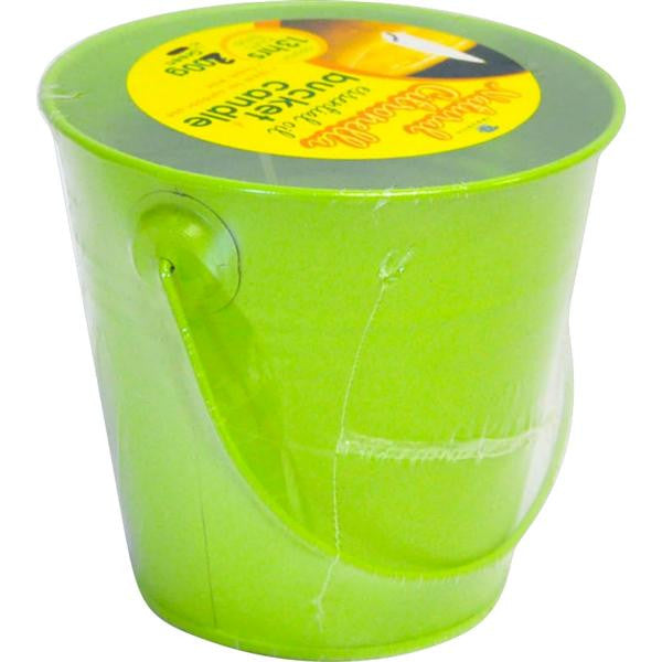 200g BUCKET CANDLES GRN