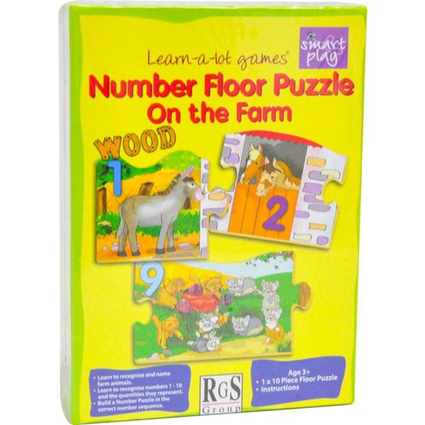 10pc NUMBER FLOOR PUZZLE