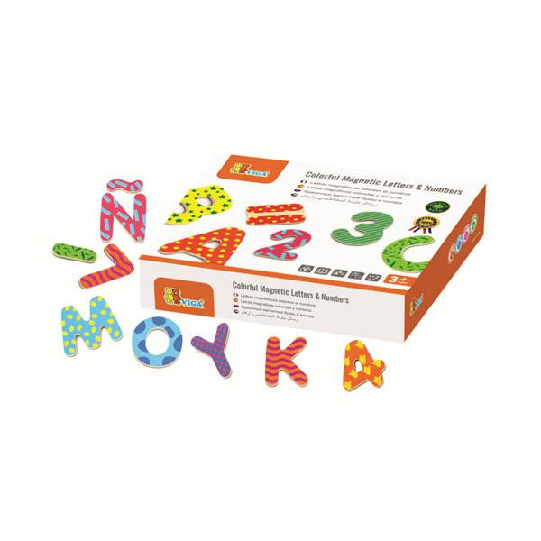 COLORFUL MAGNETIC LETTERS & NUMBERS 77pc