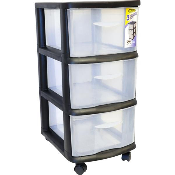 3 DRAW STORAGE UNIT BLK