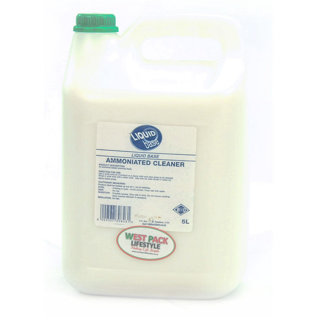 ammoniated cleaner 5lt west pack lifestyle pty ltd