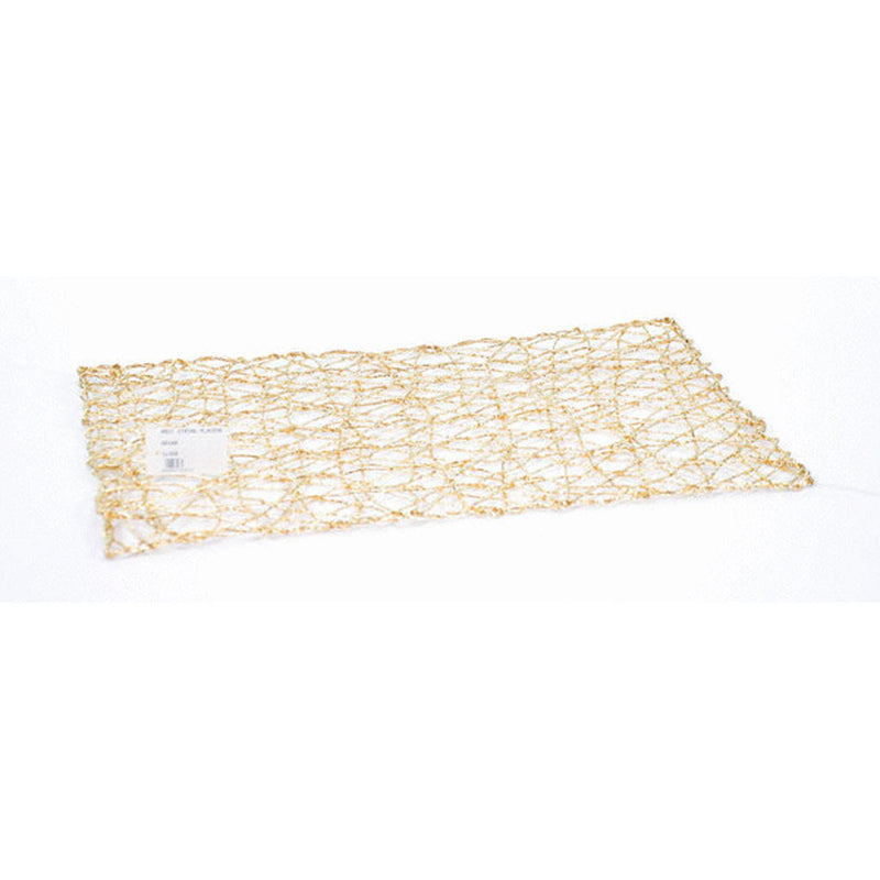 RECT STRING PLACEMAT GLD 44x30