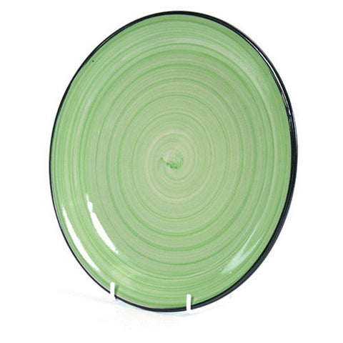 "10.5"" HAND PAINT PLATE GRN"