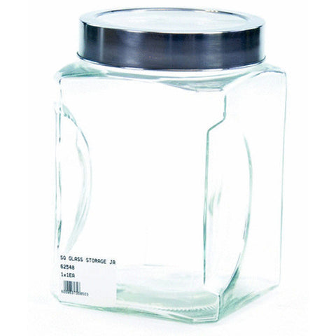 SQ GLASS STORAGE JAR 1.5lt