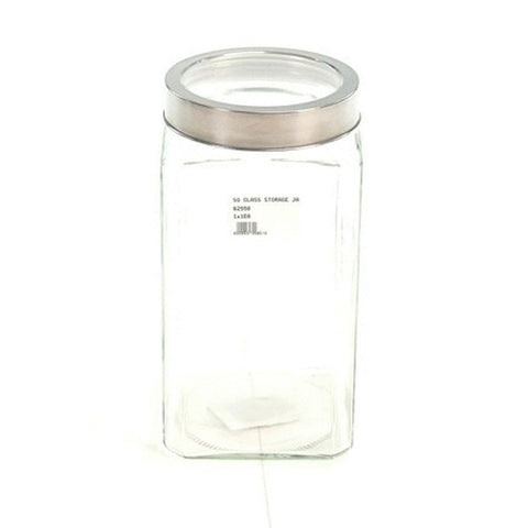 SQ GLASS STORAGE JAR 2lt