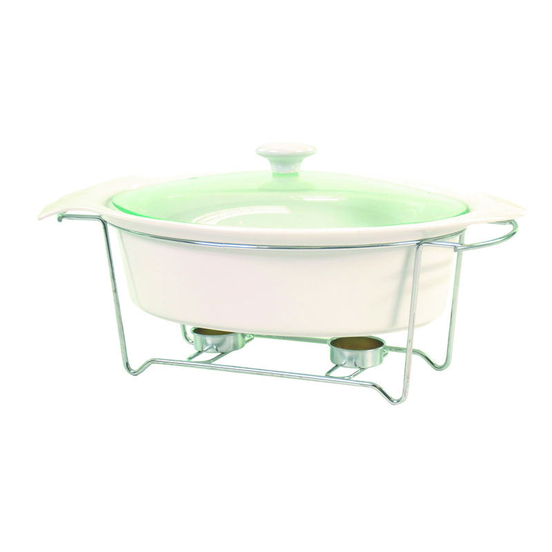 PORCELAIN CHAFING DISH 14.5""