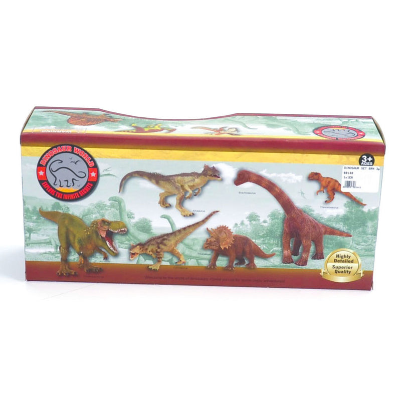 DINOSAUR SET BRN 3pc