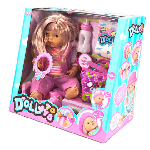 "16"" DOLL W/LONG HAIR & SOUND"