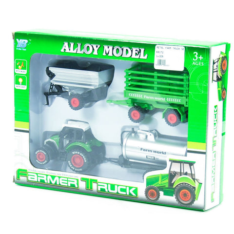 METAL FARM TRUCK SET