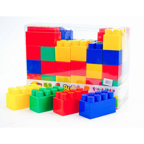 BLOCK SET IN PVC BAG 72pc