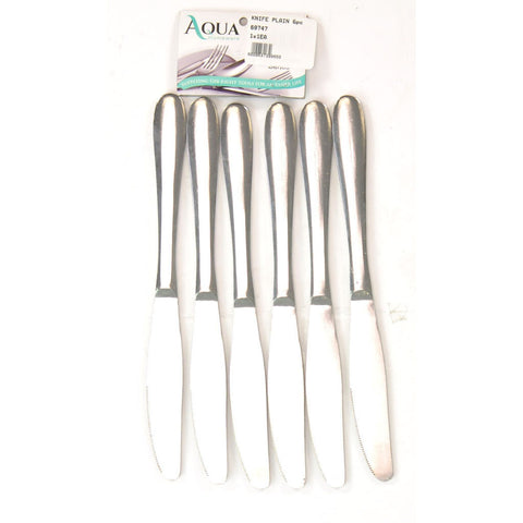 KNIFE PLAIN 6pc