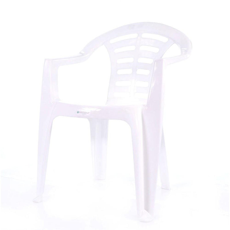 MADRID LOW BACK CHAIR WHT