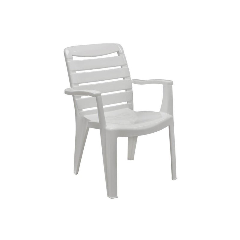 MIA HIGH BACK CHAIR WHT