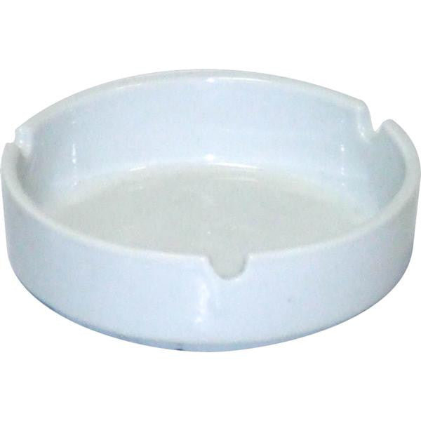 8.5cm CERAMIC ASHTRAY  WHT