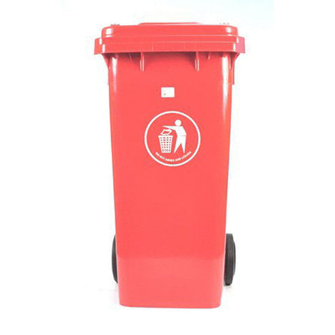 WASTE CONT 120lt RED