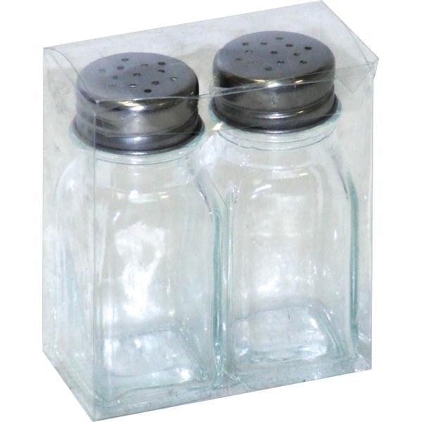 2pc SALT & PEPPER GLASS
