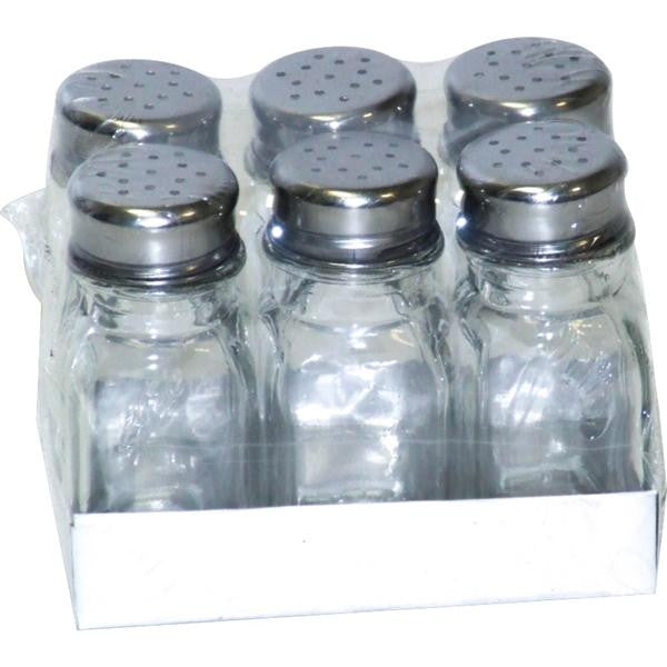 6pc SALT & PEPPER GLASS