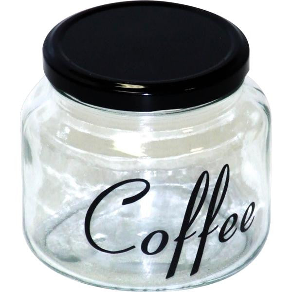 COFFEE JAR & BLK LID 500ml
