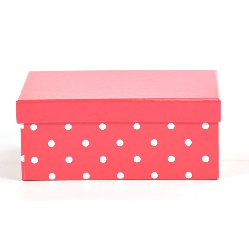 RECT BOX SET RED DOTS