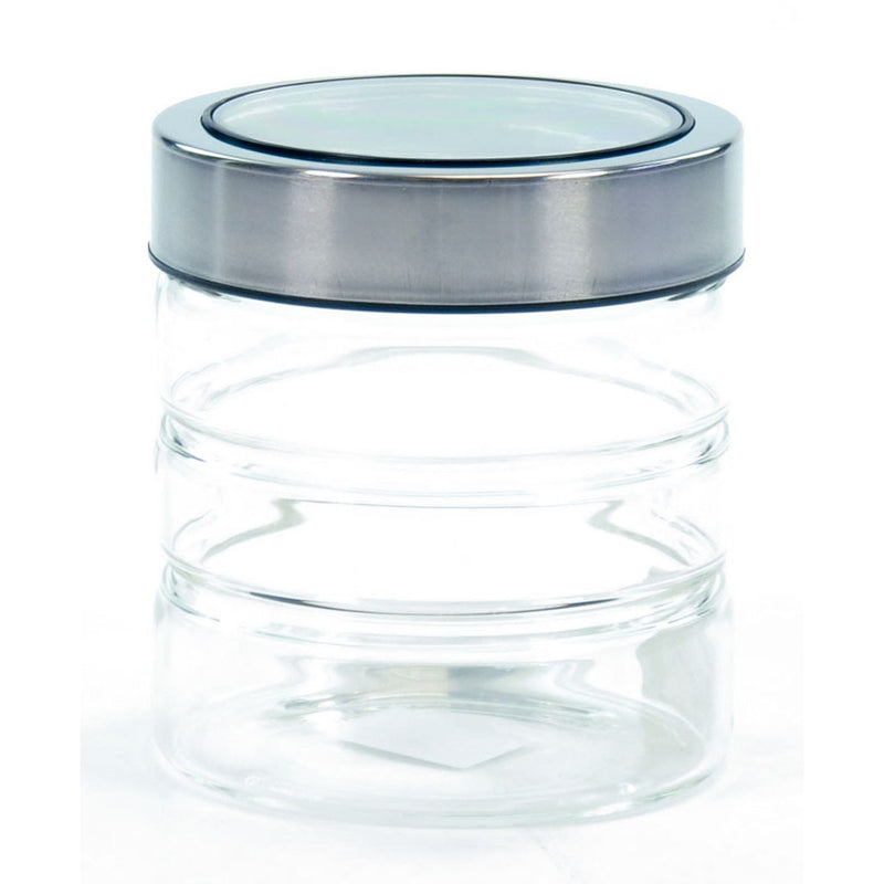 GLASS JAR & ACRYLIC LID 80ml BLK
