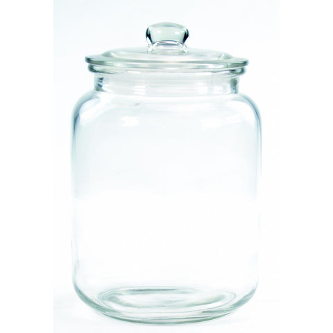 RND GLASS STORAGE JAR 7lt