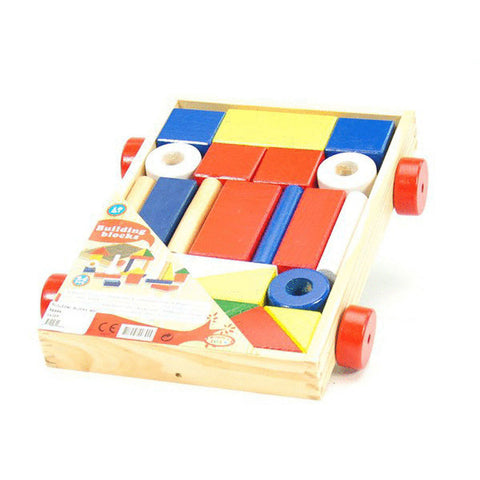 BUILDING BLOCKS WOOD CAR 24pc