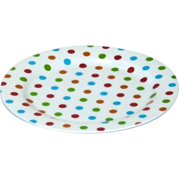 MELAMINE DOT DINNER PLATE