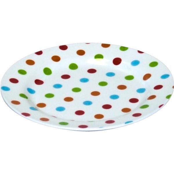 MELAMINE DOT SIDE PLATE