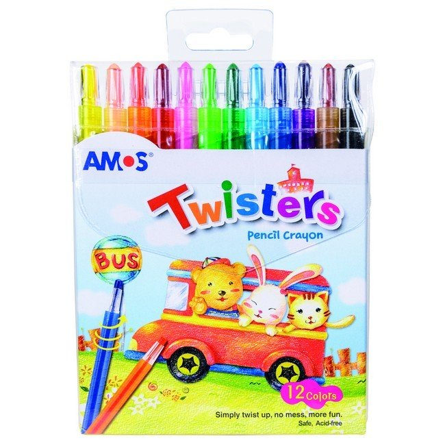 AMOS TWISTER WAX CRAYON 12`s