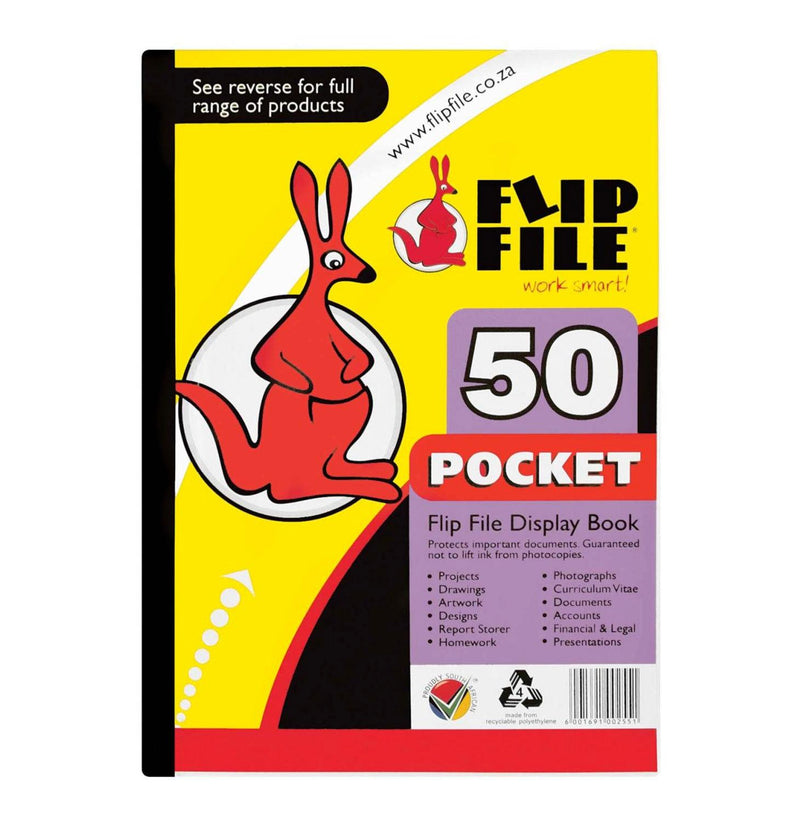 FLIP FILE KANGAROO A4 50 POCKET
