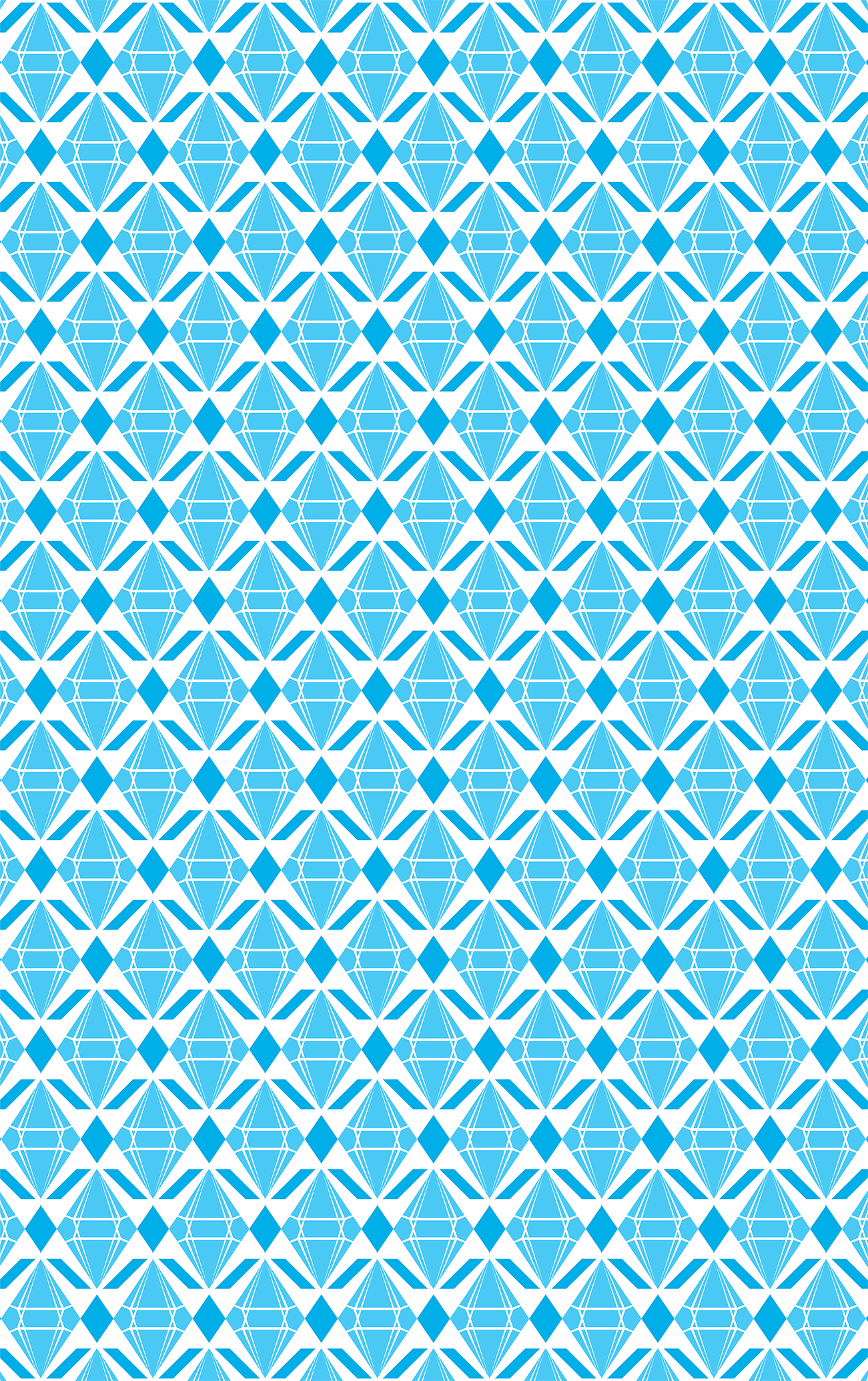 Abstract Emeralds [BLUE] pattern