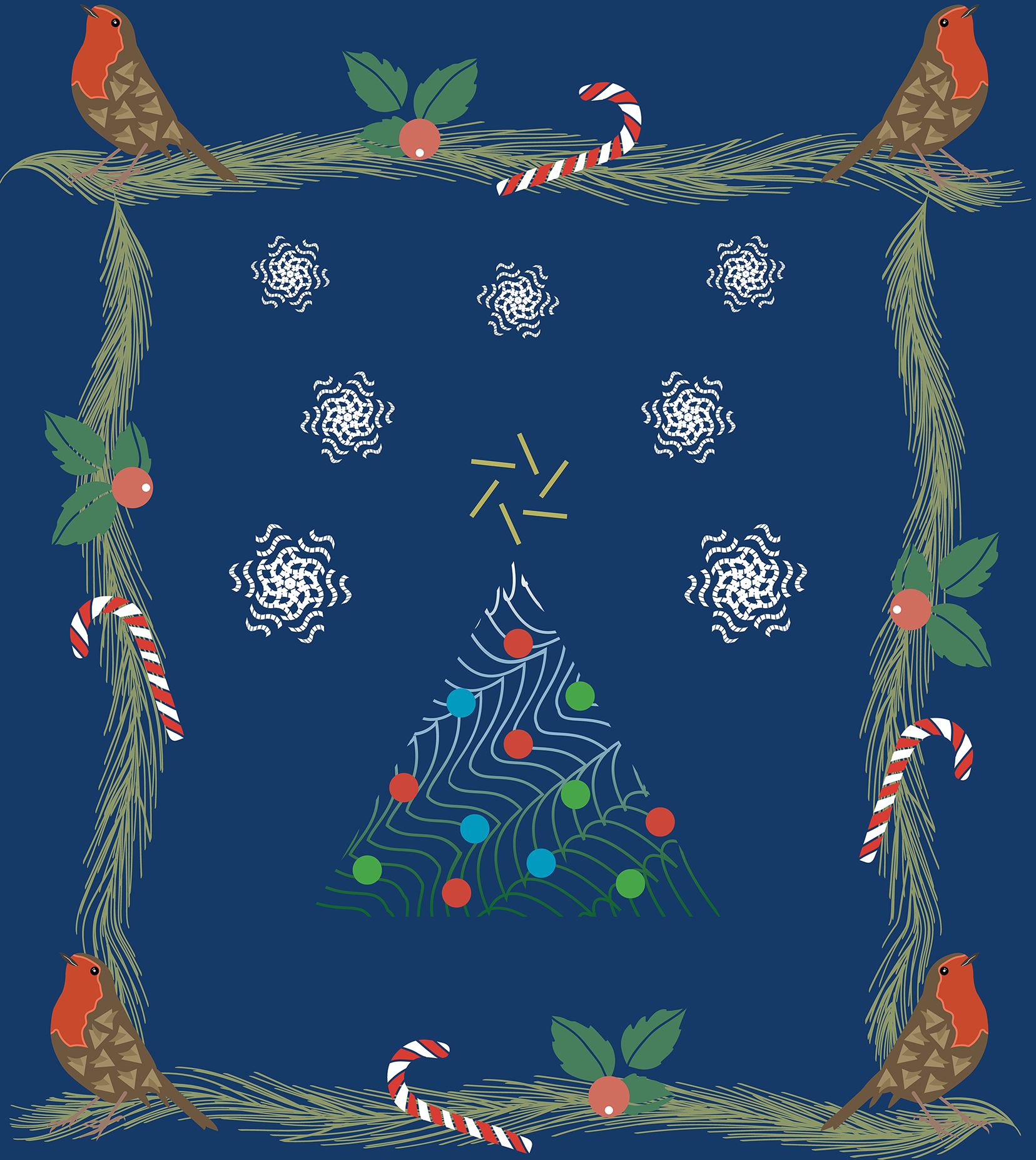 Christmas Collage Pattern