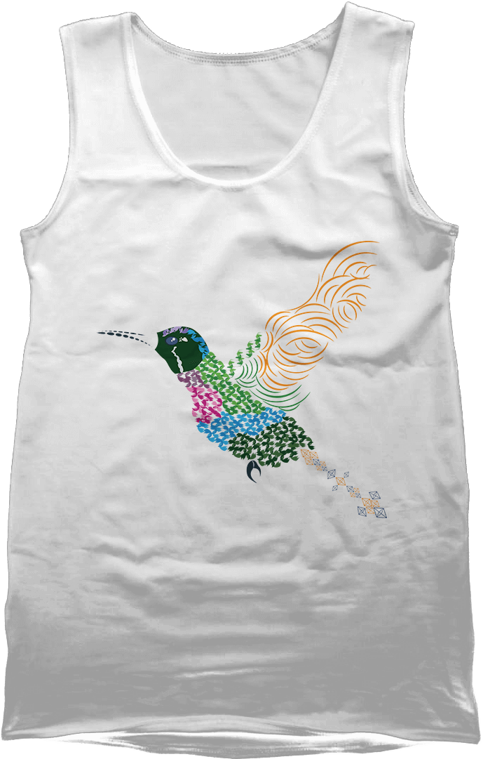 Abstract Hummingbird ~ Garnet-throated Var - White Men's Vest by Daniel Bevis