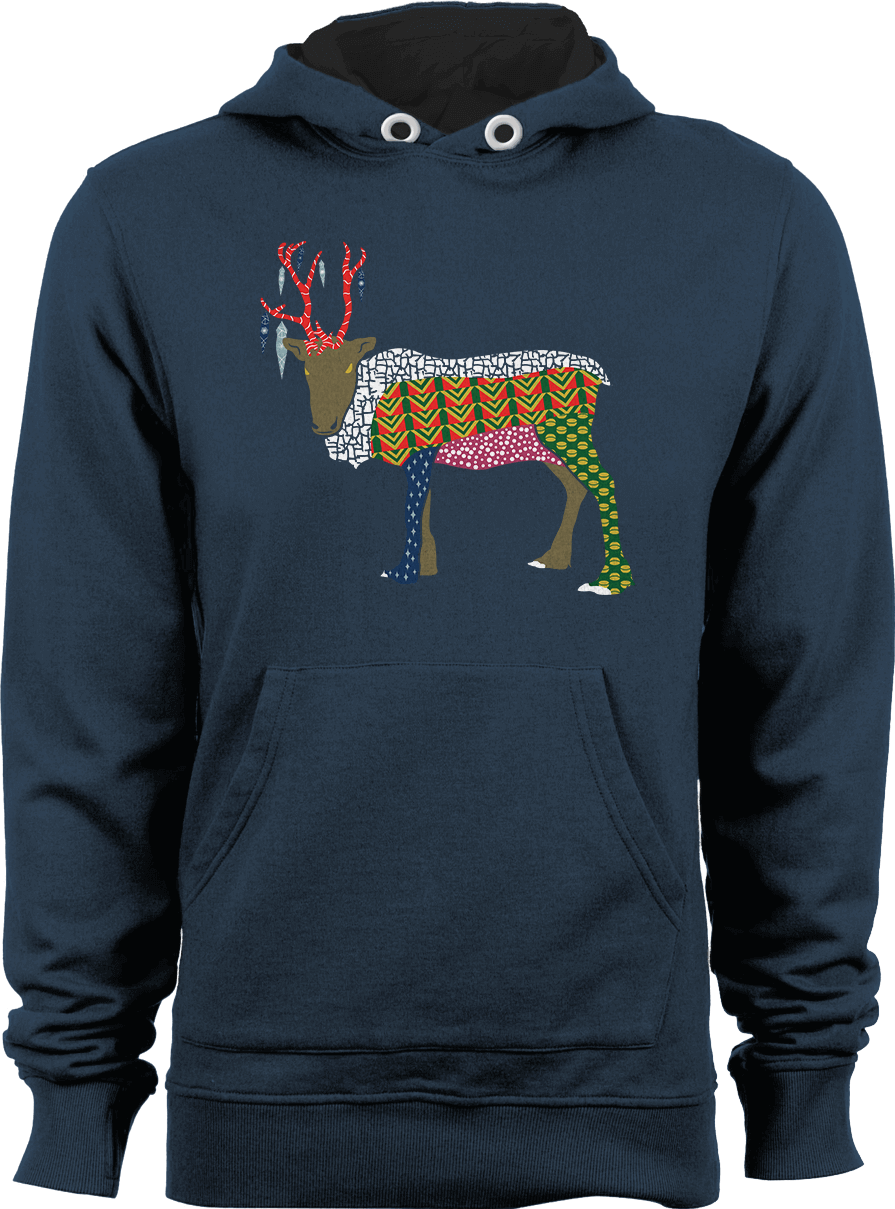 Abstract Reindeer Hoodie Thumbnail