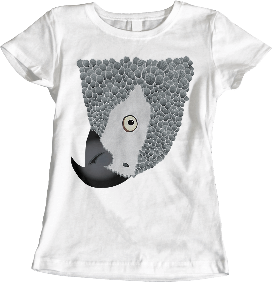 African Grey Parrot_White Women's T-Shirt by Daniel Bevis