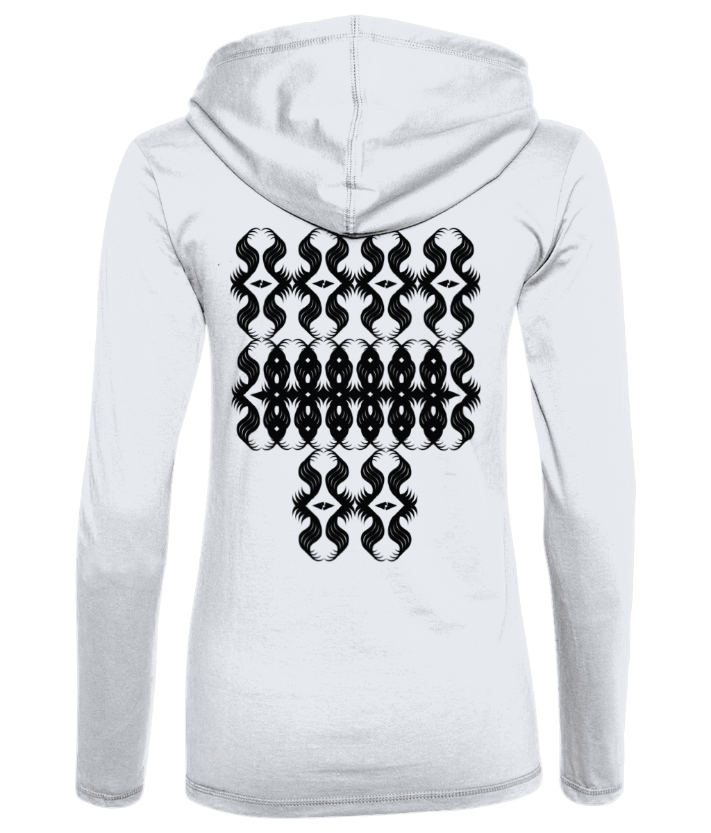 All-Seeing Eyes - Long Sleeve Hooded [Women's] T-Shirt Thumbnail