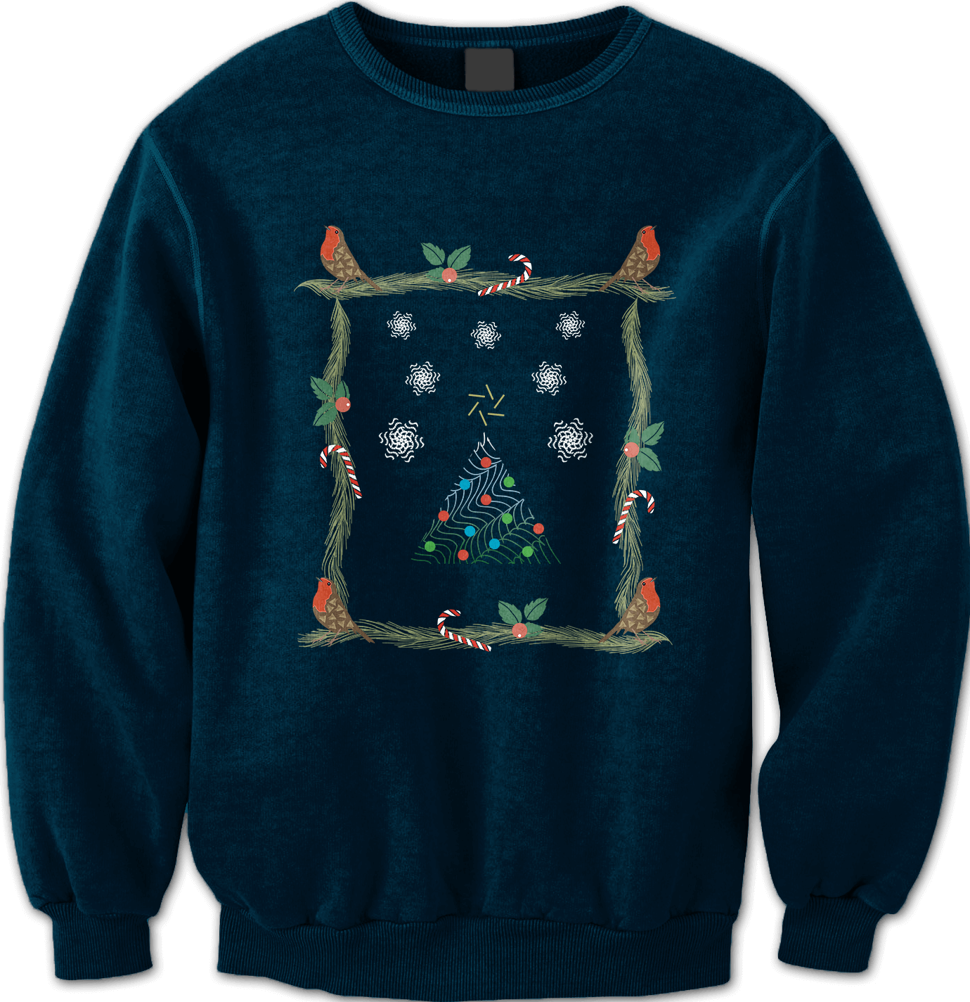 Christmas Pattern - Not So Ugly [NAVY] Unisex Sweatshirt Jumper by Daniel Bevis