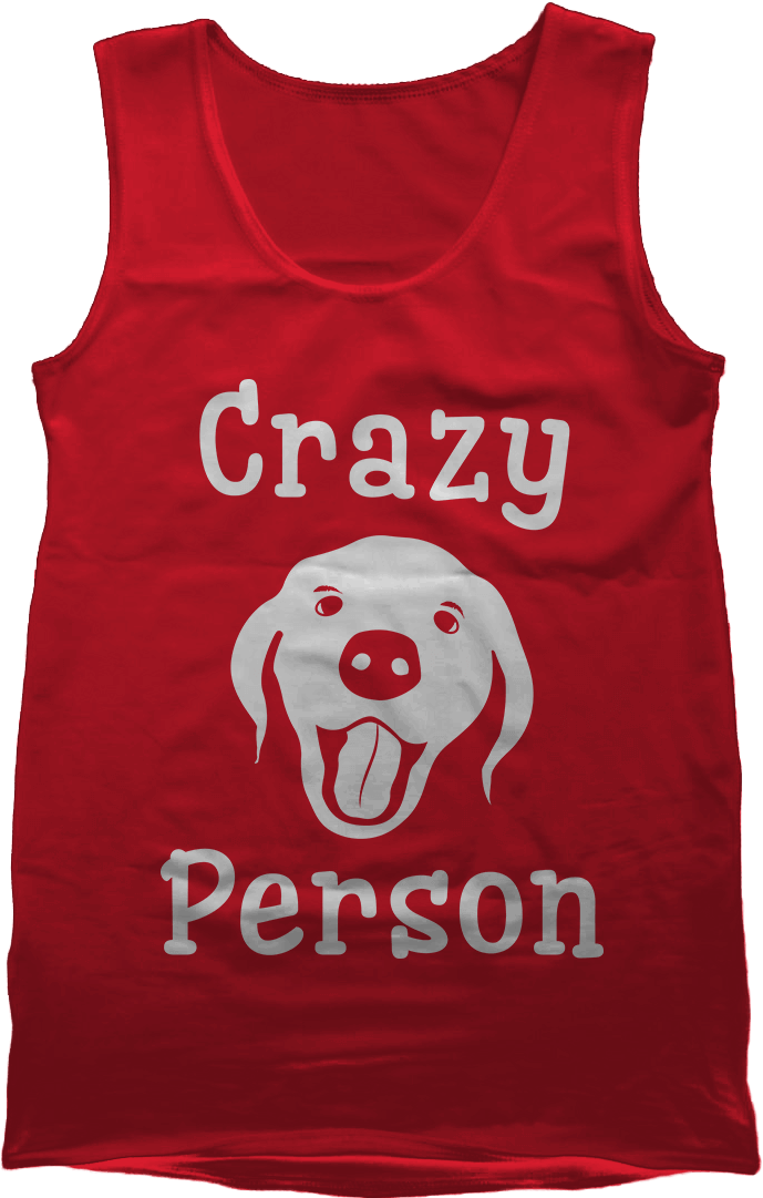 Crazy Dog Person - Red Women's Tank Top Vest by Daniel Bevis