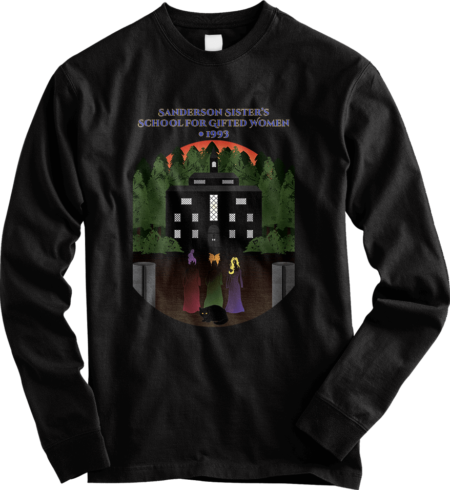 Hocus Pocus_Black Long Sleeve Men's T-Shirt by Daniel Bevis