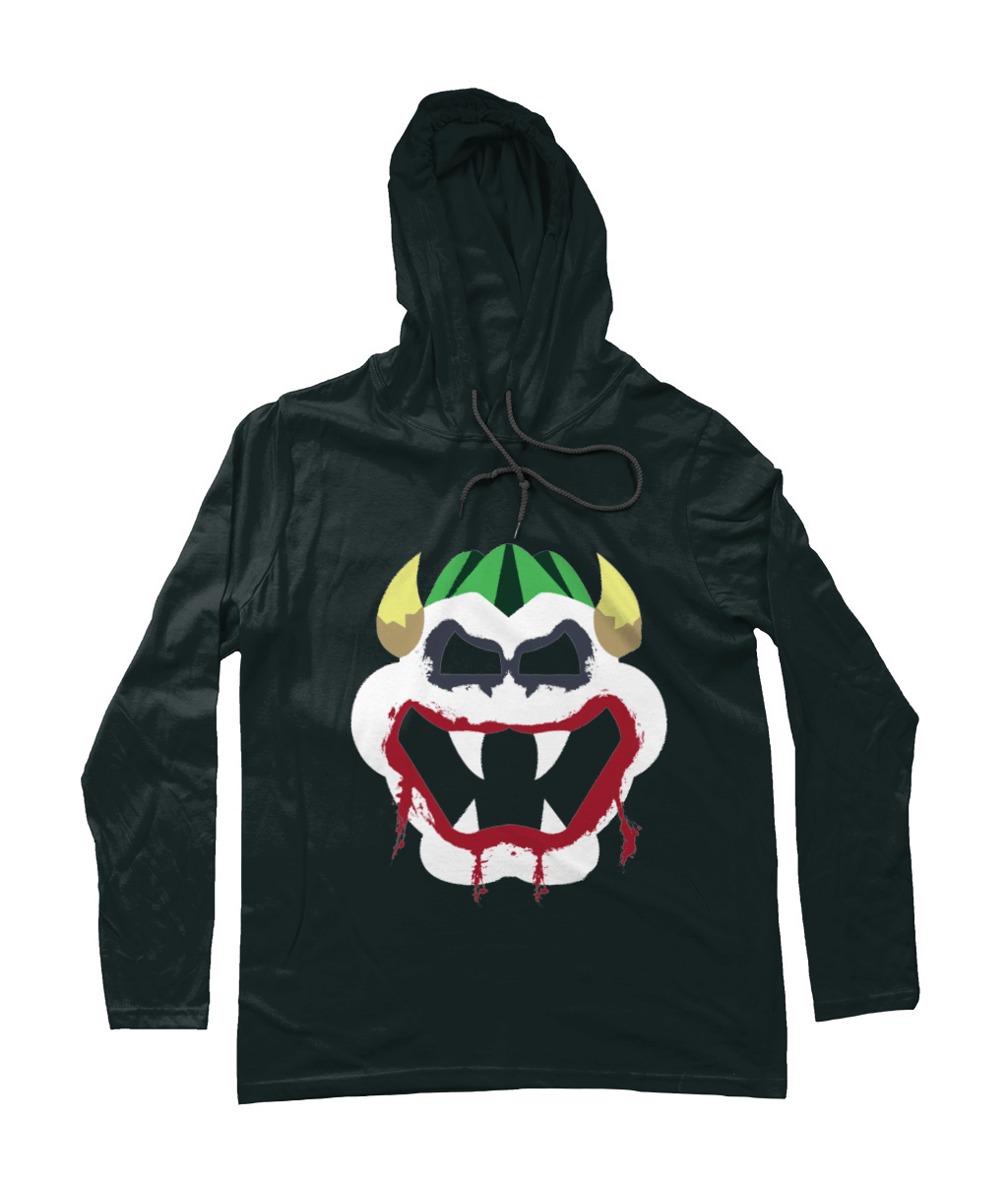 Joke's On You Bowser_Long-Sleeved [BLACK] Hooded Mens T-Shirt