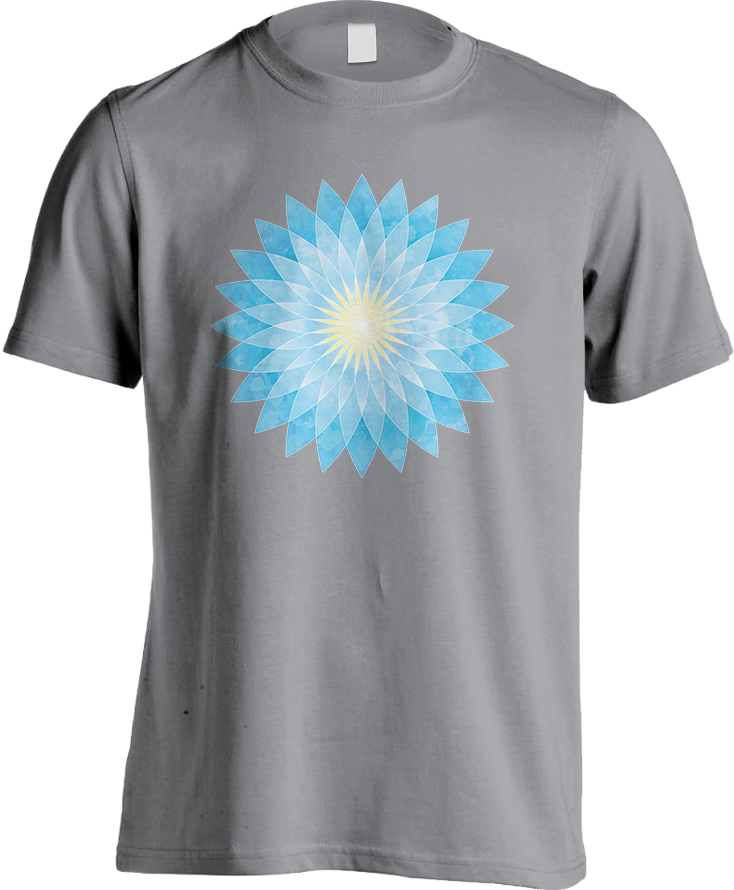Lotus Flower Mandala_Men's [Sport Grey] T-Shirt by Daniel Bevis